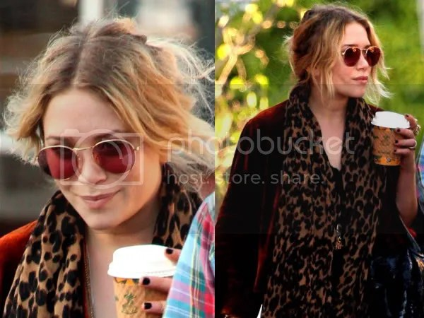 Mary-Kate Olsen in aviator sunglasses