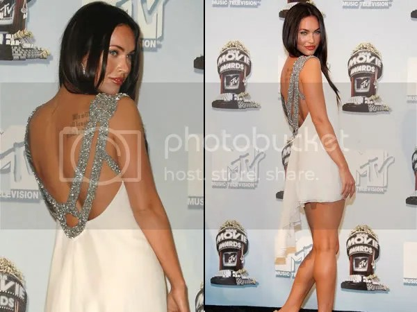 Megan Fox in the backless dress trend