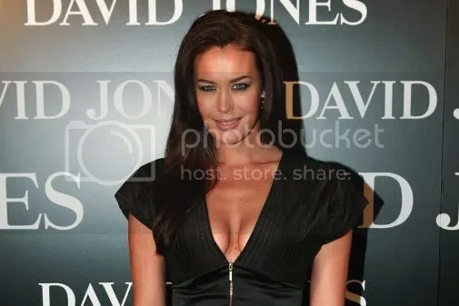 Supermodel Megan Gale at David Jones Spring-Summer 2008-2009 parade Melbourne