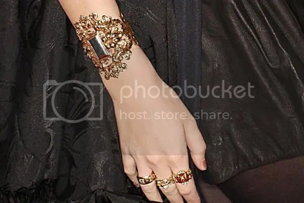 Mischa Barton statement jewellery