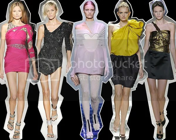 One-shoulder dresses on the Spring/Summer 2009 runways