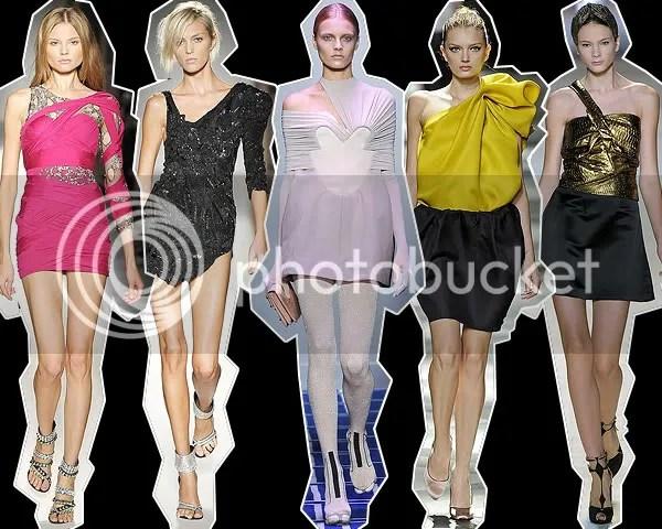 One-shoulder dresses on the Spring/Summer 2009 runways