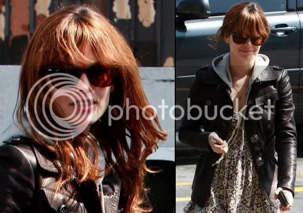 Rachel Bilson fringe hair trend