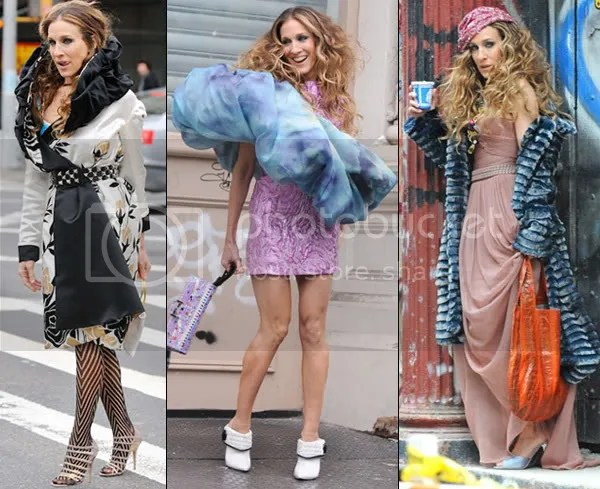 Sarah Jessica Parker shooting stills for Sex And The City movie