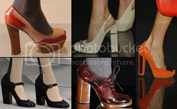 2008 chunky heeled shoes trend
