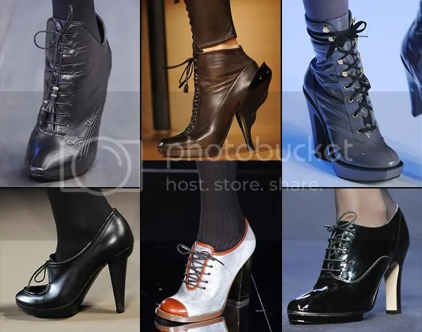 Lace-up shoes and boots trend 2008