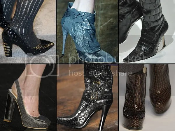 Reptile leather shoes and boots trend 2008