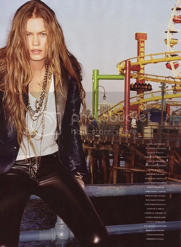 Santa Monica CA; Behati Prinsloo for Flair