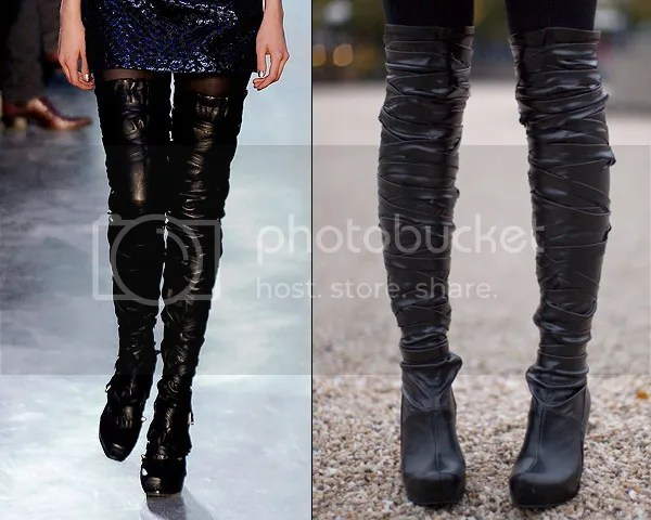 Rodarte thigh-high boots DIY