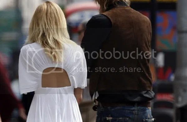 Sienna Miller backless dress