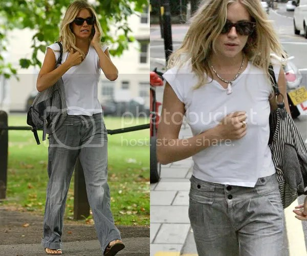 Sienna Miller in boyfriend jeans fashion trend