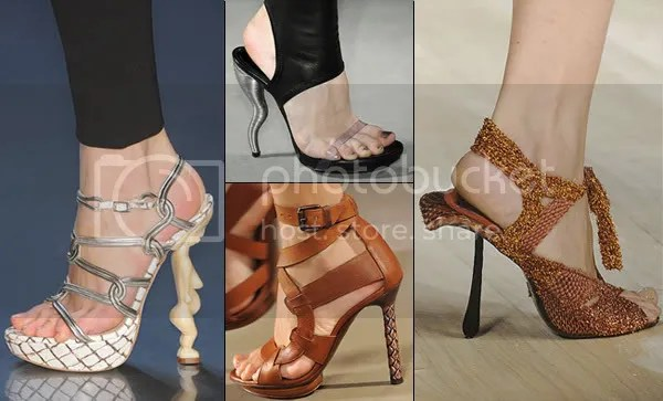 Feature / sculptured heels 2009 shoe trend
