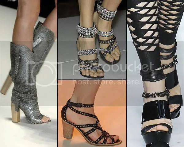 Fetish shoes, studs and chains 2009
