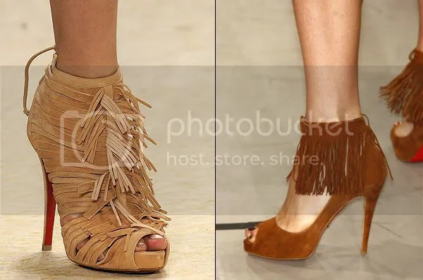 Fringed shoes and boots 2009