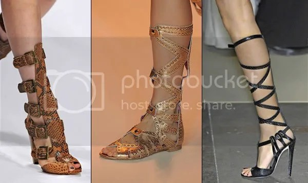 Gladiator sandals and heels 2009