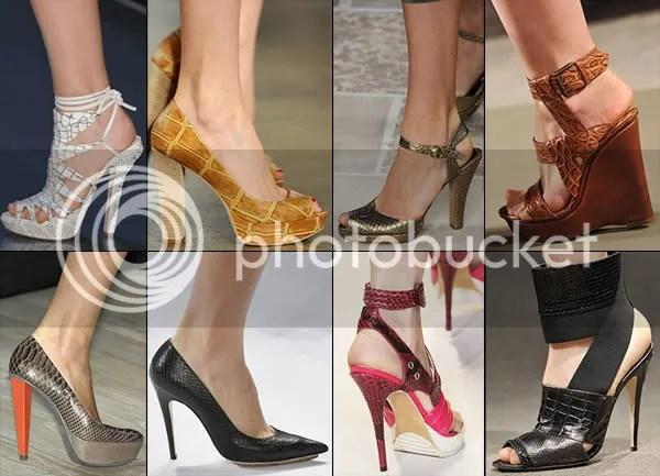 Reptile skin shoe trend 2009