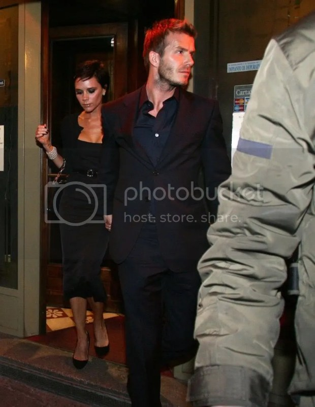 Victoria and David Beckham in Italy