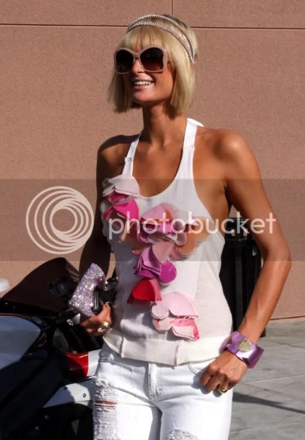Paris Hilton street style in Hollywood