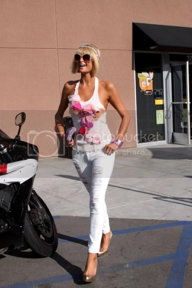 Paris Hilton street style in Hollywood