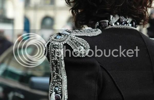 Balmain military jacket street style