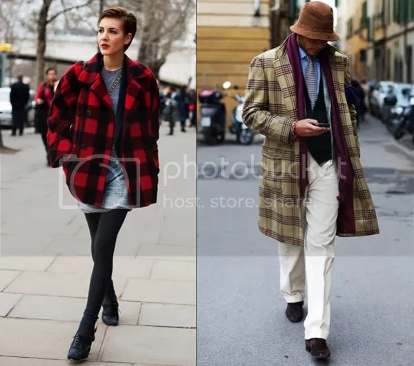 Plaid and tartan on the streets