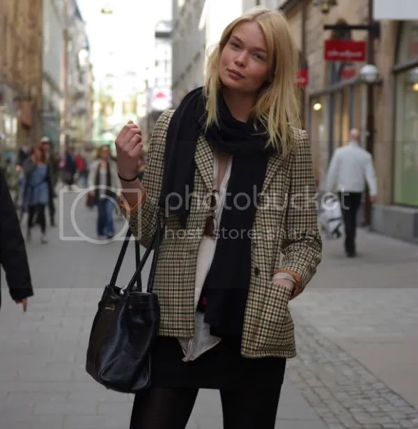 Plaid trend street style, Sweden