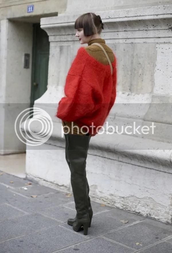 Prada thigh high waders street style