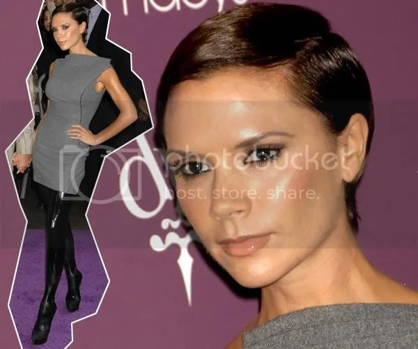 Victoria Beckham aka Posh Spice and her pixie cropped hair