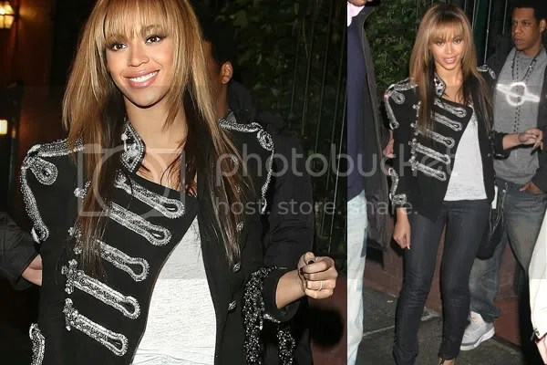 Beyonce in Balmain jacket