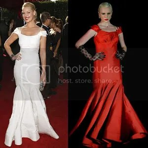 Katherine Heigl in Zac Posen; a model in Zac Posen for Target
