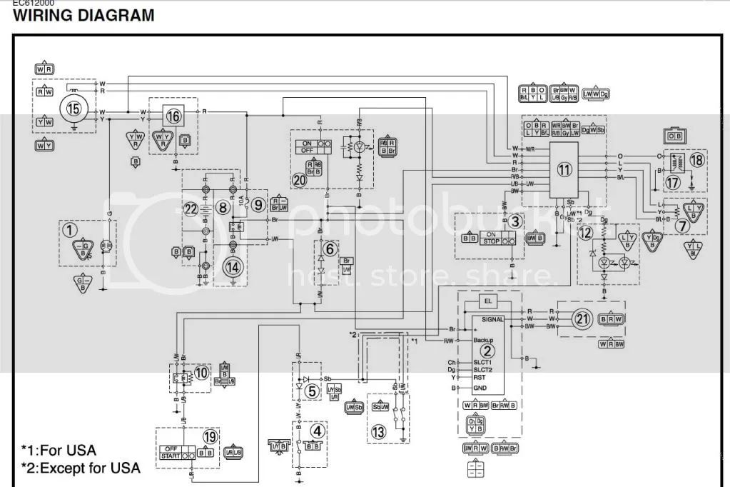 2009 wr250f wiring diagram