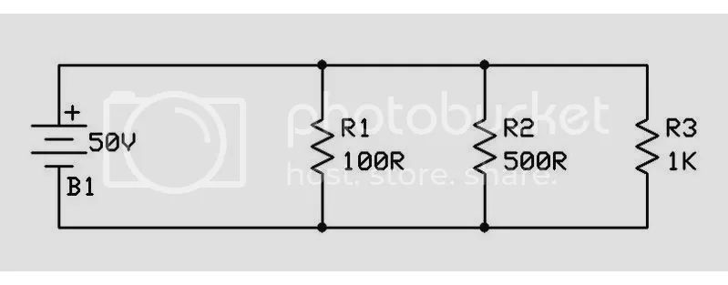 in a parallel circuit are the same we can fill in our voltage current