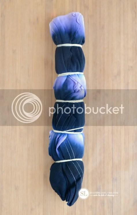 Inverted V Tie Dye Technique