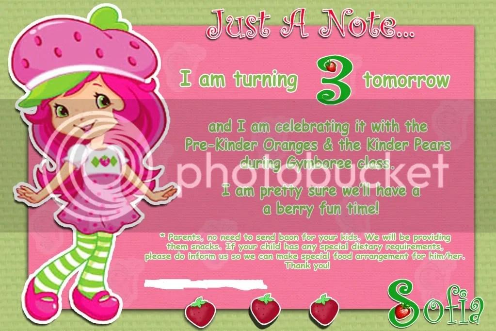 Birthday Party in SchoolÜ Female Network - birthday invitation note