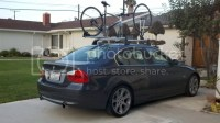 E90 OEM Roof Rack with Race Bicycle Carrier