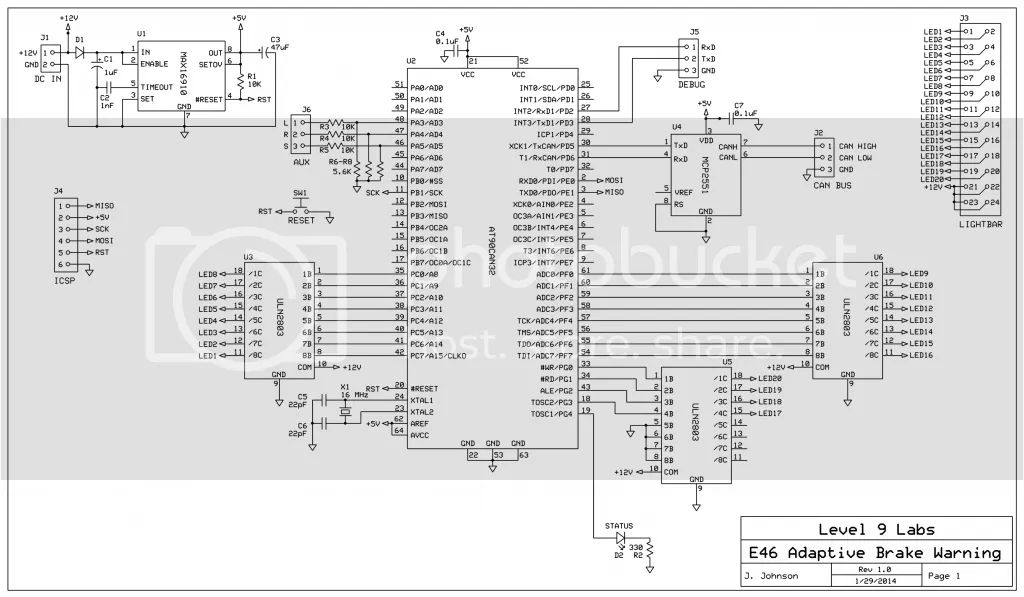 can bus light circuit schematic