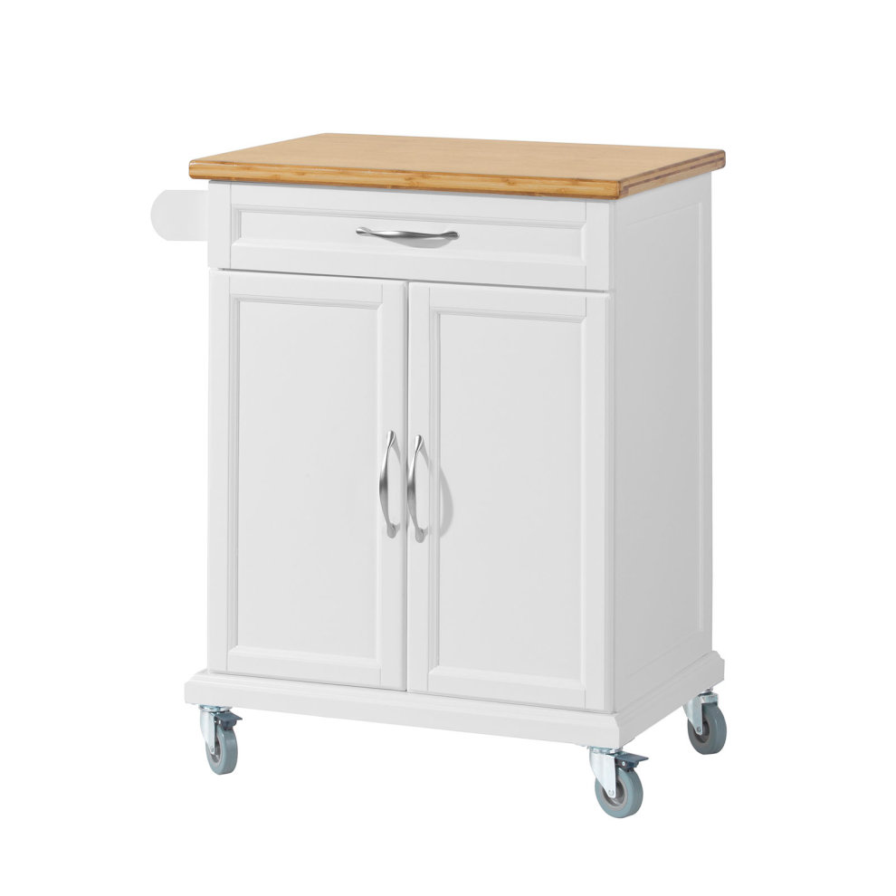 Sobuy Shop Sobuy Fkw13 Wn Kitchen Cabinet Storage Trolley With Bamboo Worktop