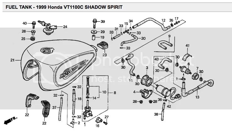 honda shadow fuel filter location