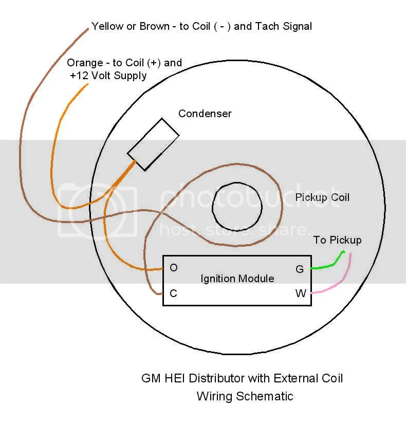 gm delco remy hei distributor wiring diagram chevy hei distributor
