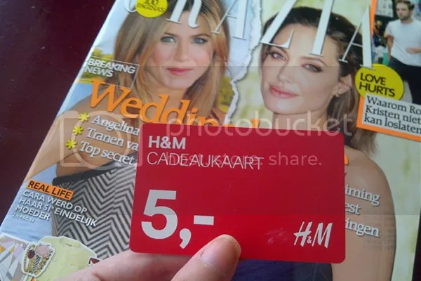Cadeaukaart H&m Fotodagboek Augustus 2012 #2 | Beauty Before Breakfast