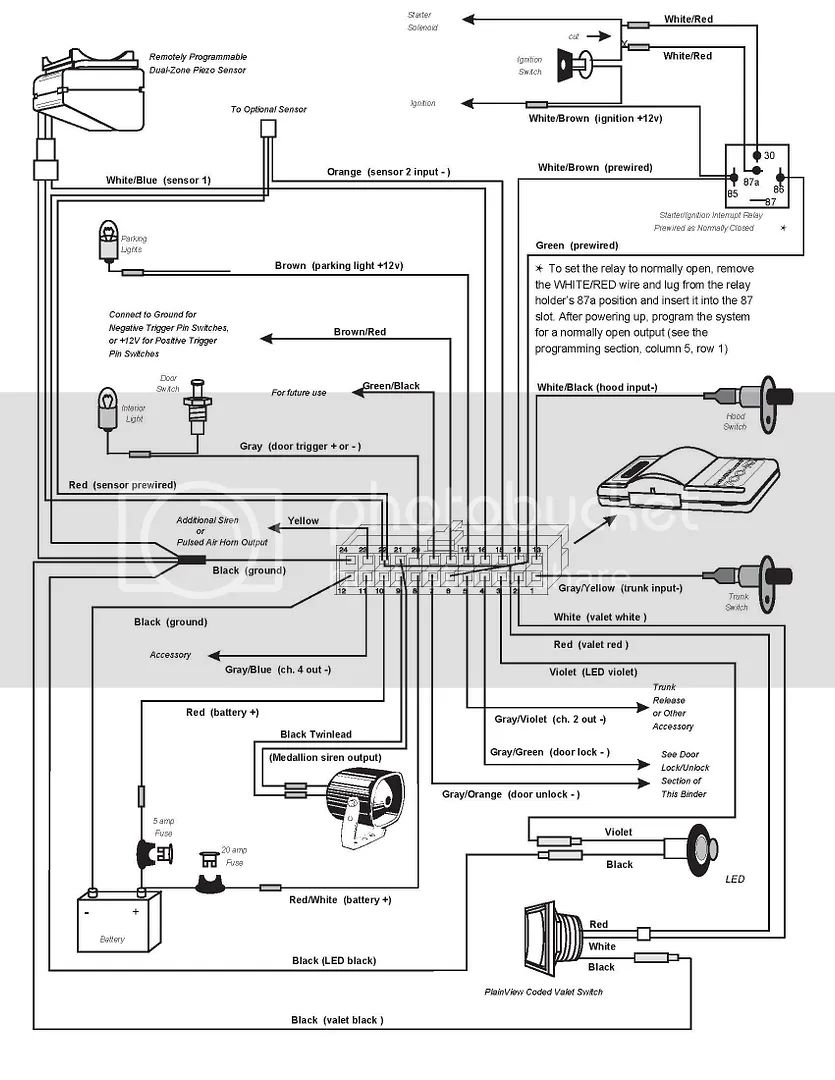 clifford alarm wiring diagrams english