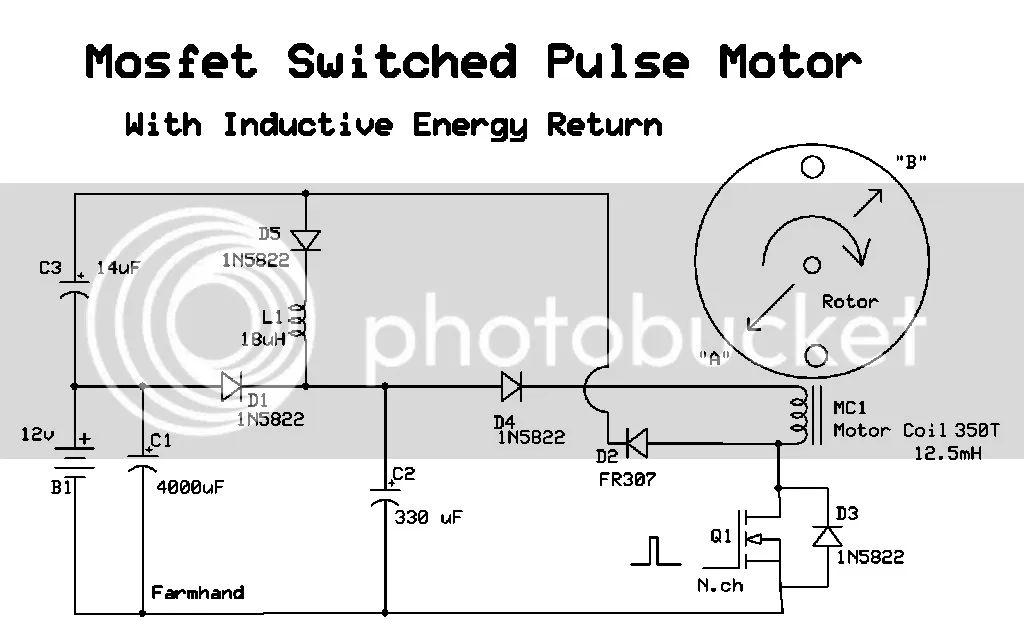 inductive energy return on a regular pulse motor circuit though