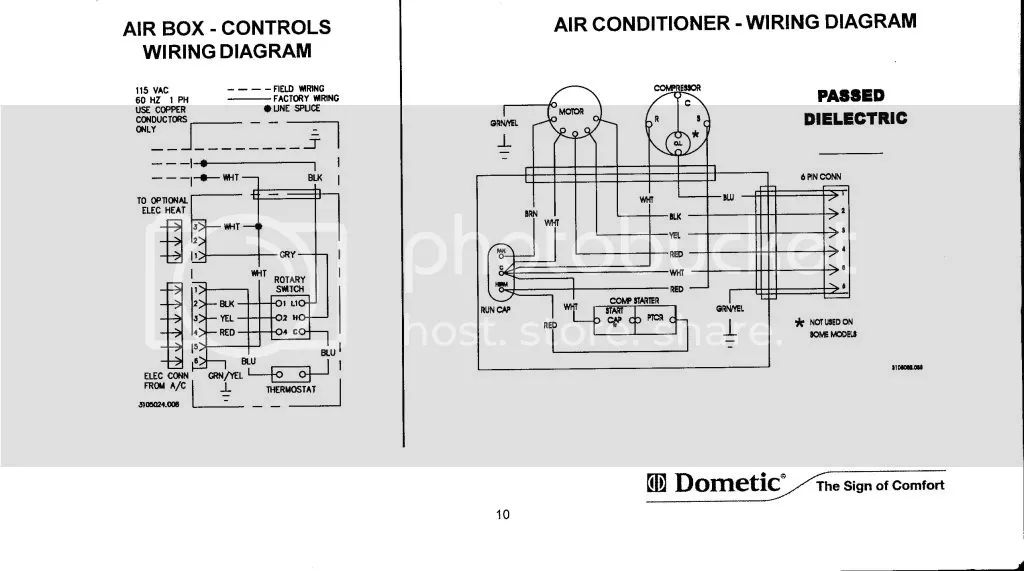 dometic brisk air 2 thermostat wiring diagram