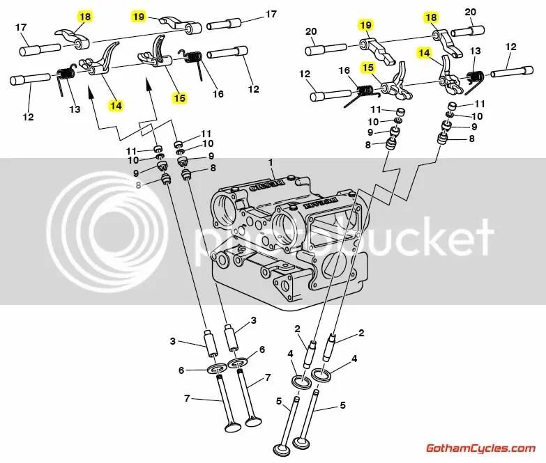 Ducati Closing Rocker Arms rockers 748-996, ST4 SPORTTOURING ST4