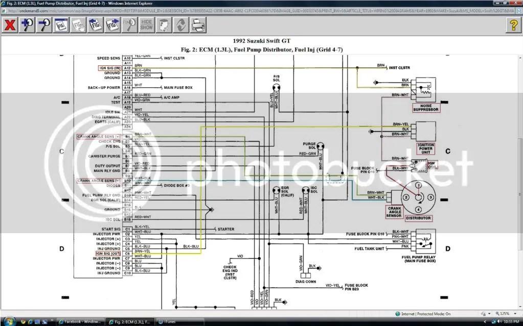 Fuse Box 1989 Suzuki Swift Wiring Diagram