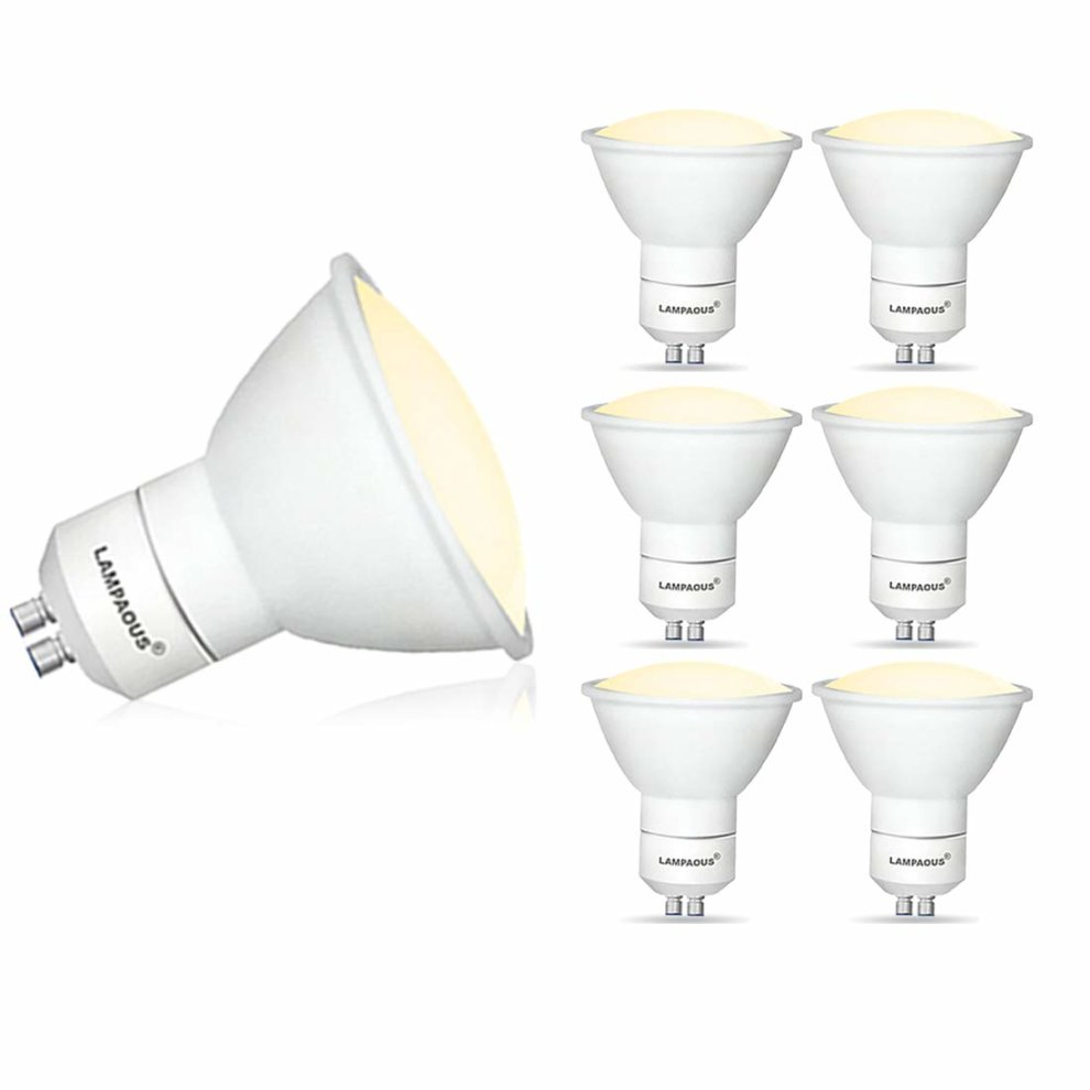 Led Gu10 5w Lampaous Pack Of 6 5w Led Gu10 Bulb Warm White Gu10 Led Lights 450lm Super Bright Gu10 Led 50w Halogen Gu10 Lamp Replacement Very Soft White With
