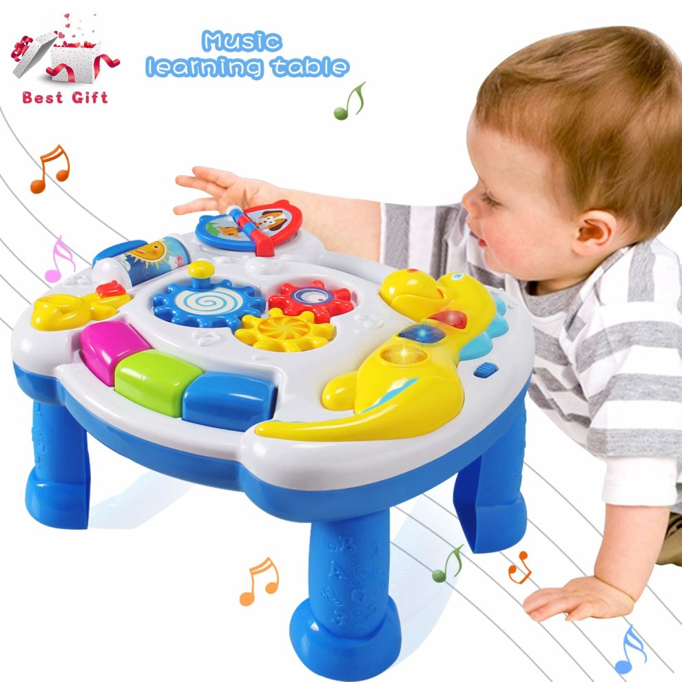 Baby Activity Center Actrinic Baby Toys Musical Learning Table 6 To 12 Months Up Early Education Music Activity Center Game Table Toddlers Infant Kids Toys 1 2 3 Years