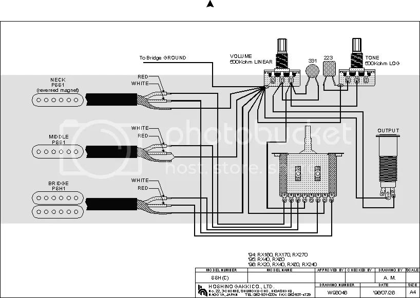 dean b guitar wiring diagram
