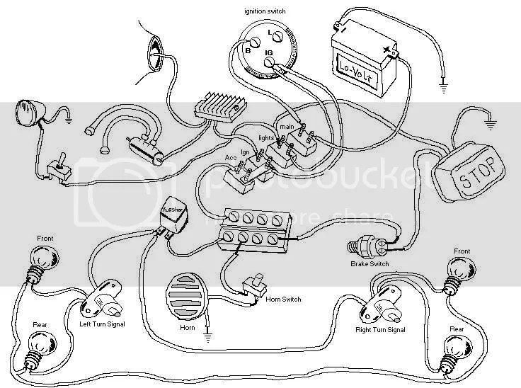 MOTORCYCLES YAMAHA XJ MAXIM WIRING DIAGRAM - Auto Electrical Wiring