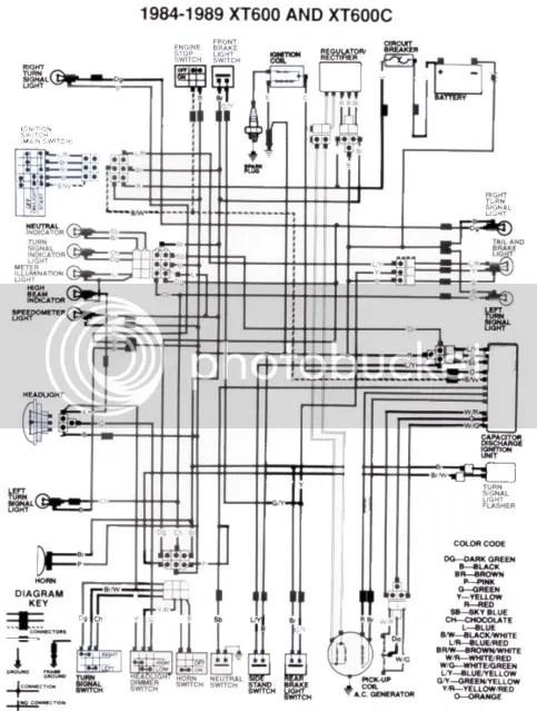 Yamaha Tt 600 Wiring Diagram | Wiring Diagram on